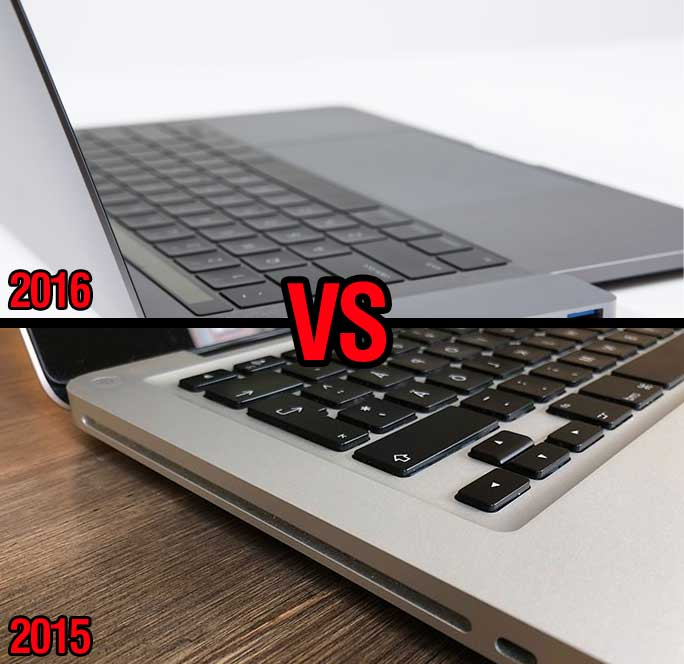 comparison between 2015 and 2016 macbook pro keyboards