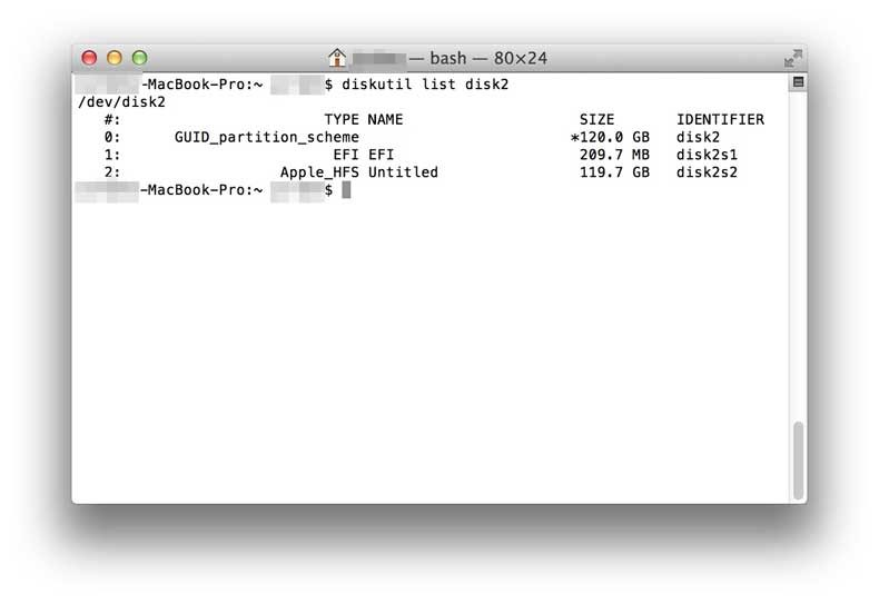 macbook pro command line interface (bash)