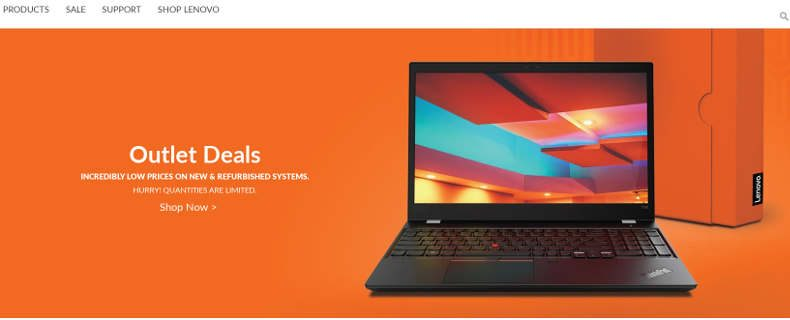 screenshot lenovo outlet store