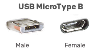 usb micro type b male and female connector