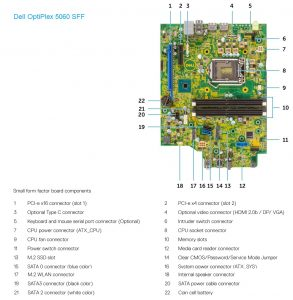 Dell OptiPlex 5060SFF motherboard