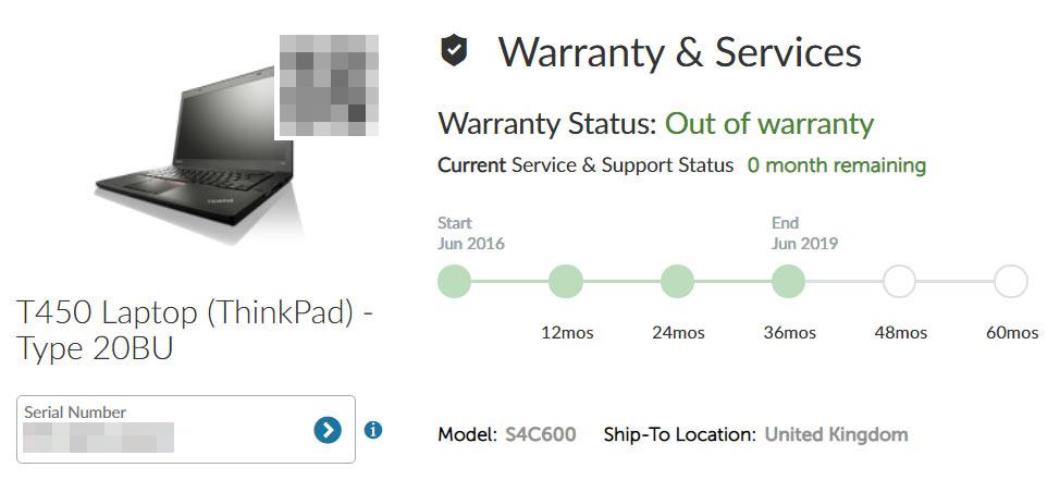 lenovo thinkpad laptop warranty example